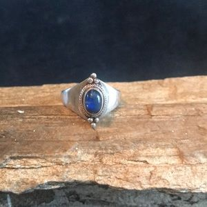 Sterling Silver and Labradorite Ring